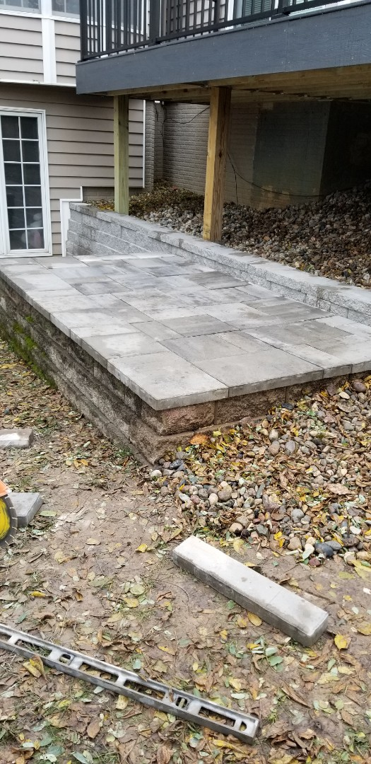 Des Moines, IA - Just got this small patio done on to the next