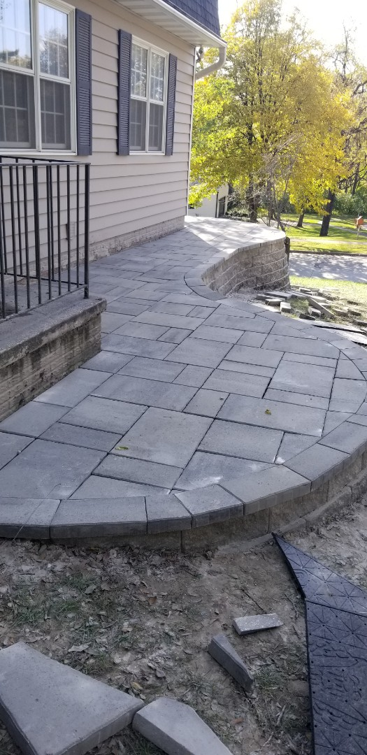 Des Moines, IA - Just finished another patio
