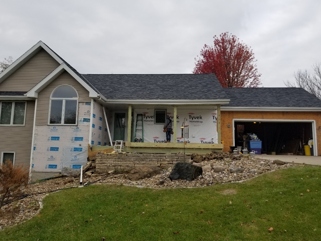 Pella, IA - Starting another siding replacement with Everlast in Pella