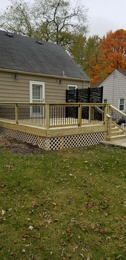 Des Moines, IA - Just finished this treated deck with these awesome privacy panels