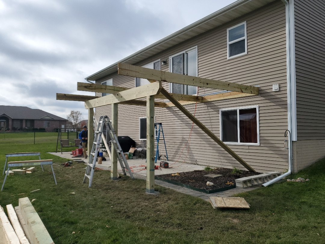 Grimes, IA - Deck framing going up