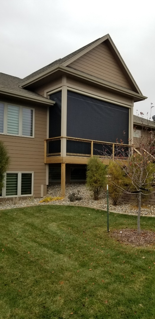 Urbandale, IA - Just finished these electric screens over in urbandale