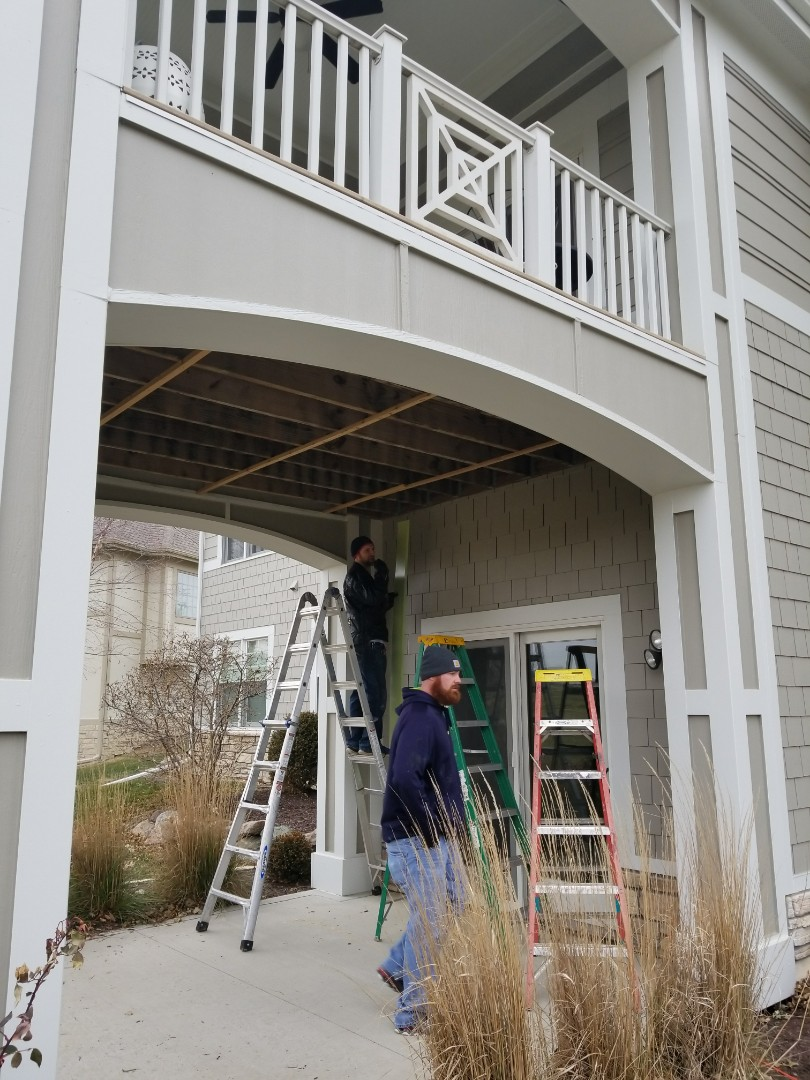 West Des Moines, IA - Installation of Rain-out Underdecking in West Des Moines, IA