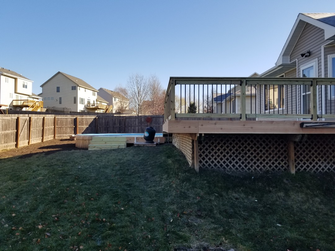 Pleasant Hill, IA - Deck replacement and landscaping