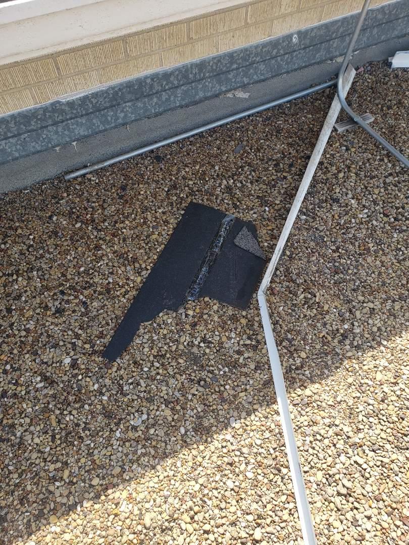 Dallas, TX - Damage to the church in Dallas. Wind damage.