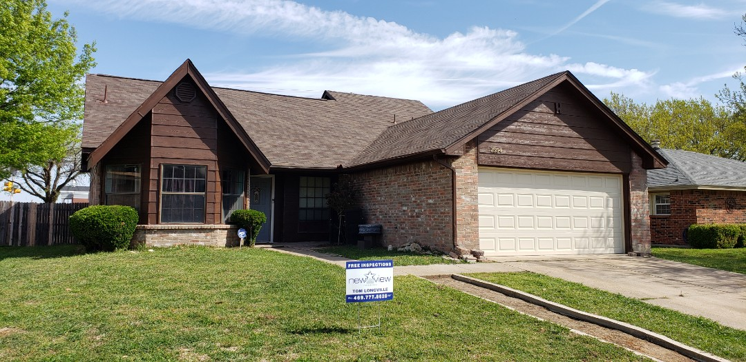 Grand Prairie, TX - Just replaced our customers roof with Tamko shingles, synthetic felt and we corrected their ventilation problems by adding ridge vent.