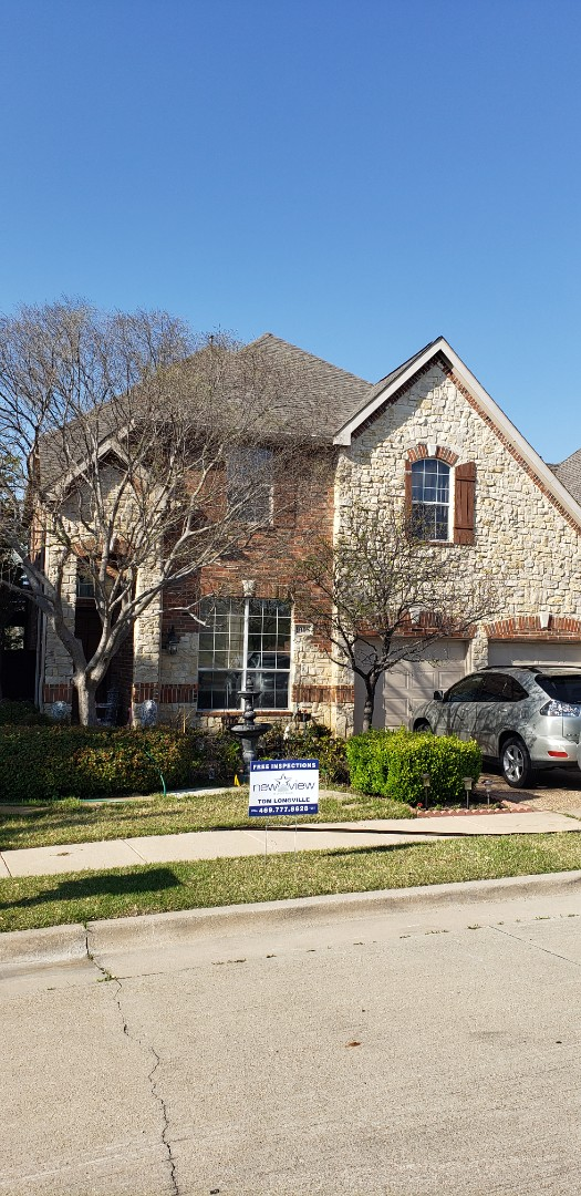 Irving, TX - Just got our customer approved for total roof replacement. We are using GAF 30 year shingle, synthetic felt and solar powered vents.