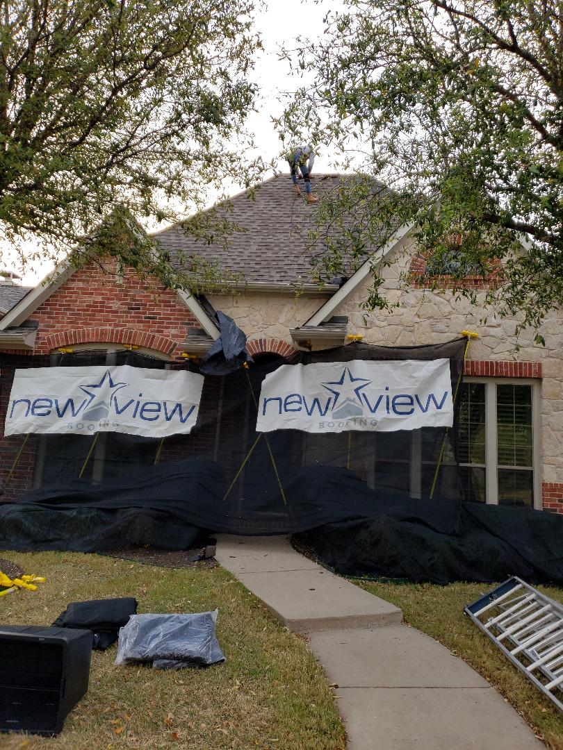 Allen, TX - Our customer needs a roof replaced and is selling their home. So we are upgrading them to a class 4 shingle to add value to their home, and using our unique protection system to make sure their home stays in pristine shape. We're using CertainTeed Landmark IR class 4 shingle.