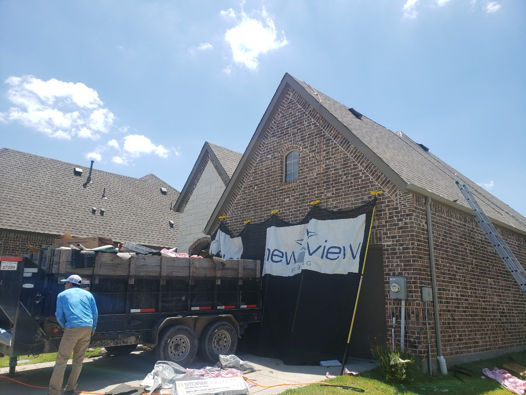 McKinney, TX - Owens corning. Wind damage. Storm damage. Hail. Shingles. 30 yr. Gutters. Fence. Windows. Lighting. A rated. Angie's list. Home depot. Lowes. Contractor.