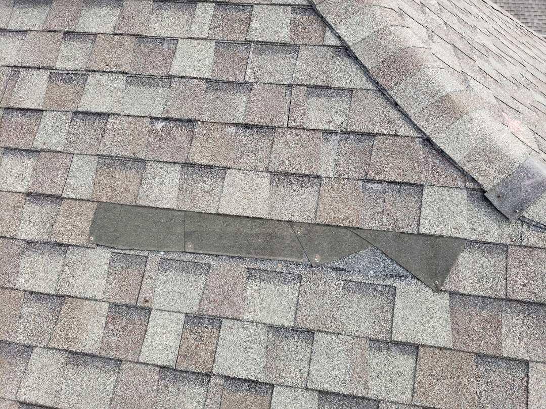 Little Elm, TX - Missing shingles. Wind damage. Hail damage. Gaf. Owen's corning. Water damage. Fence, gutters.