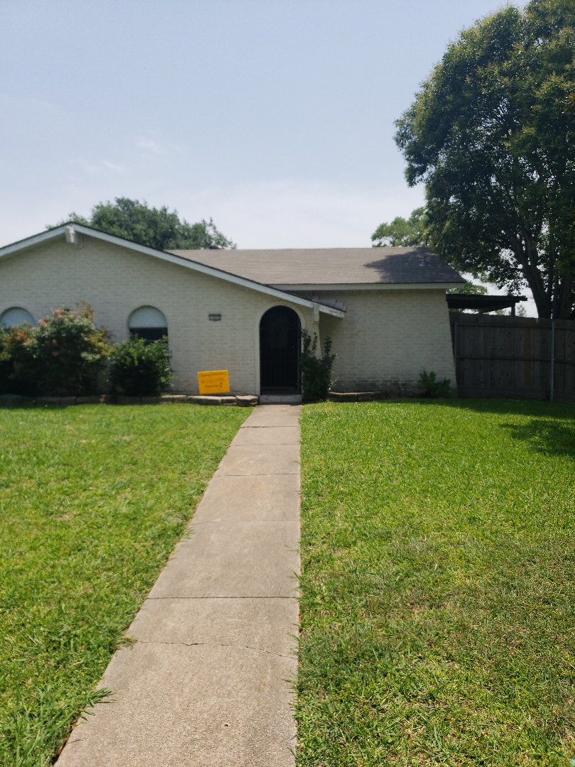 Garland, TX - New roof, gutters, security gate, fascia, soffit, painting . Storm claim