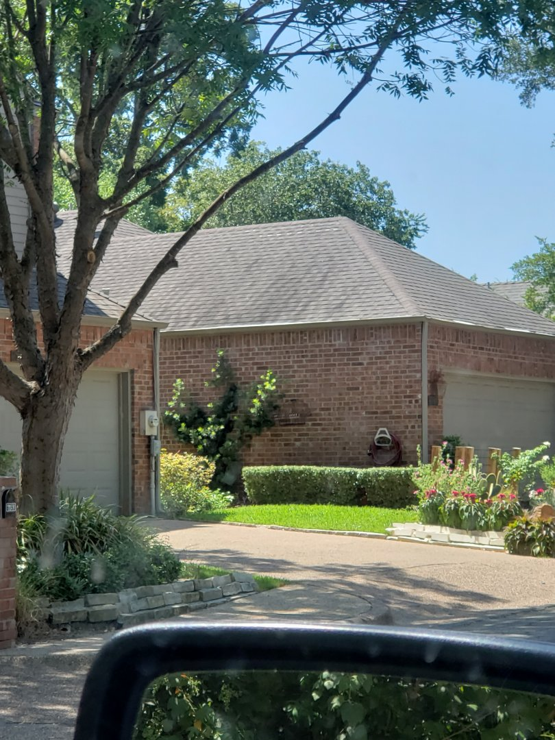 Dallas, TX - Missing shingles. Slipping shingles. Hail bruises. Lifted flashing. Old roof.