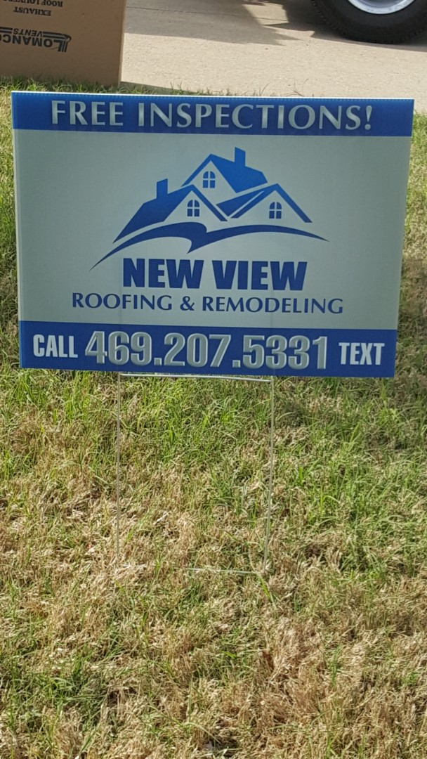 McKinney, TX - New View roofing is working in Mckinney Texas today for another great client. We love this weather!
