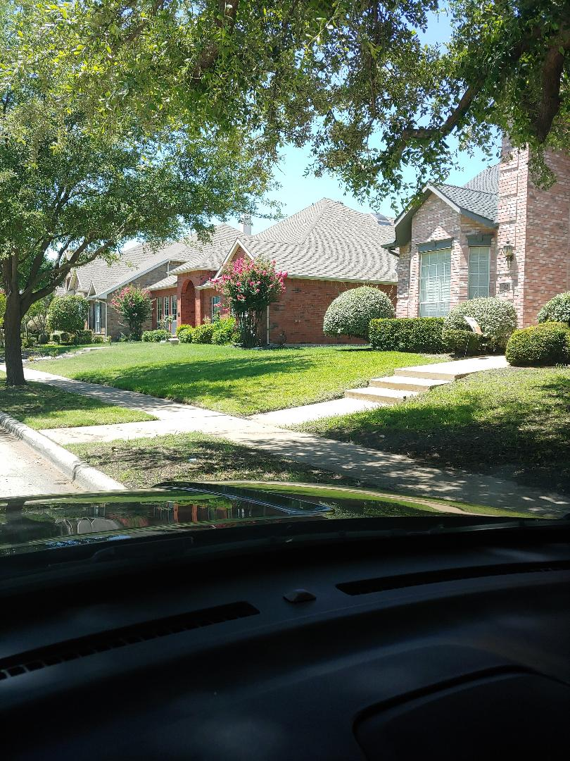 Coppell, TX - Canvassing another neighborhood who roofs need my Tender Care
