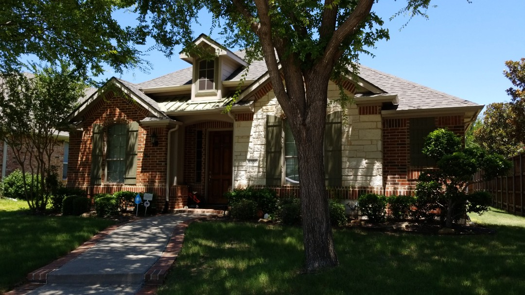 Frisco, TX - 6/27/18 - Installed Landmark Impact resistant shingle, weathered wood - New View Roofing