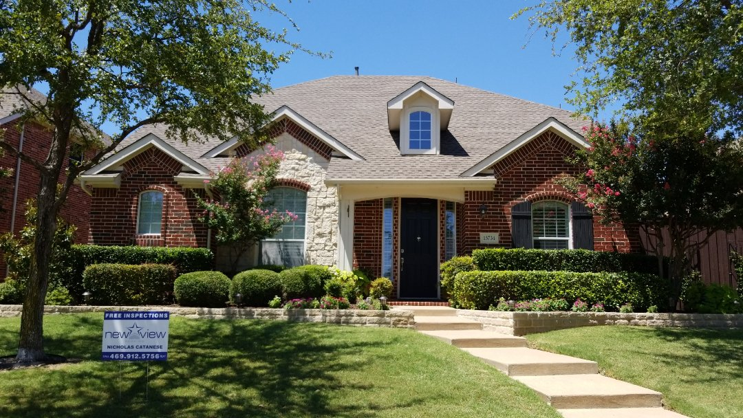 Frisco, TX - 6/27/18 - Installed GAF Timberline HD weathered wood shingle - New View Roofing