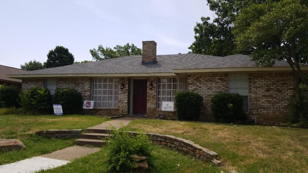 Carrollton, TX - 6/27/18 - Installed GAF slate estate grey shingle, 30 year warranty - Neq View Roofing