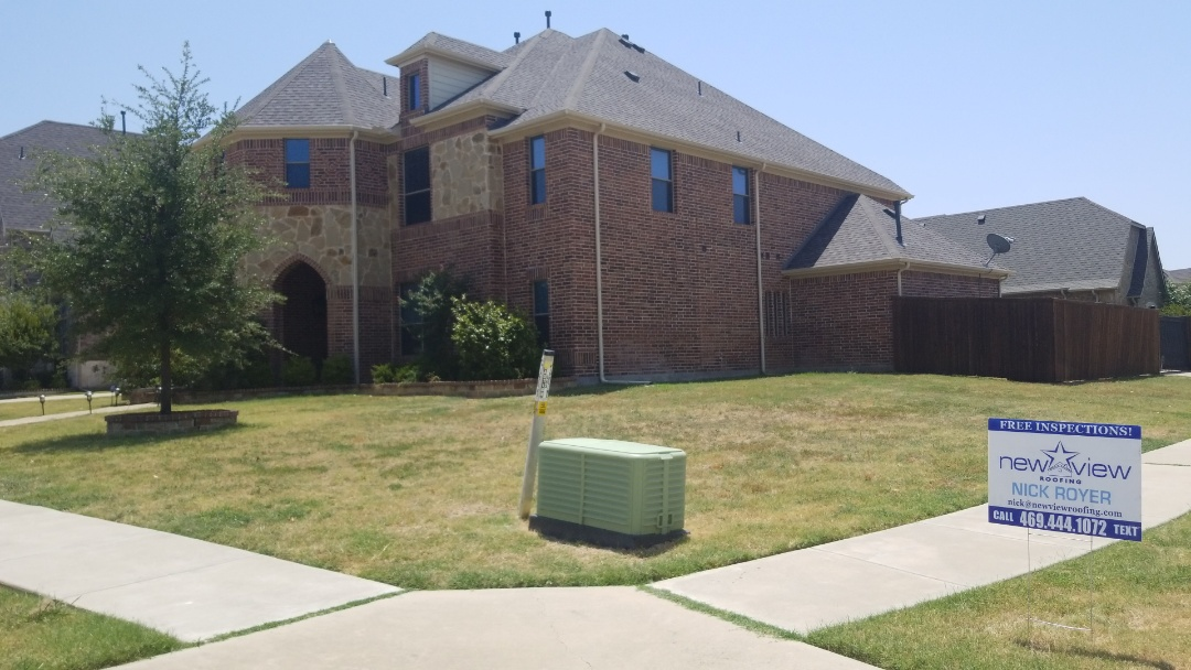 Carrollton, TX - Complete roof replacement - Installed GAF TIMBERLINE Hd weathered wood 30 year shingle and gutter systems