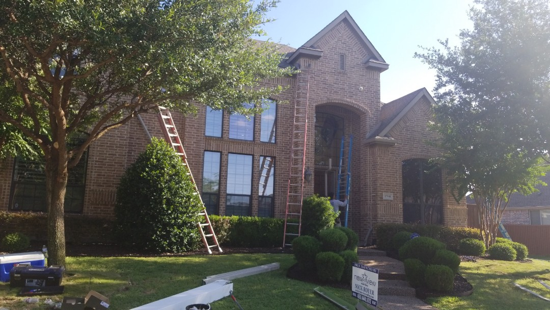 Carrollton, TX - Installed GAF natural shadow weathered wood shingle and roof replacement