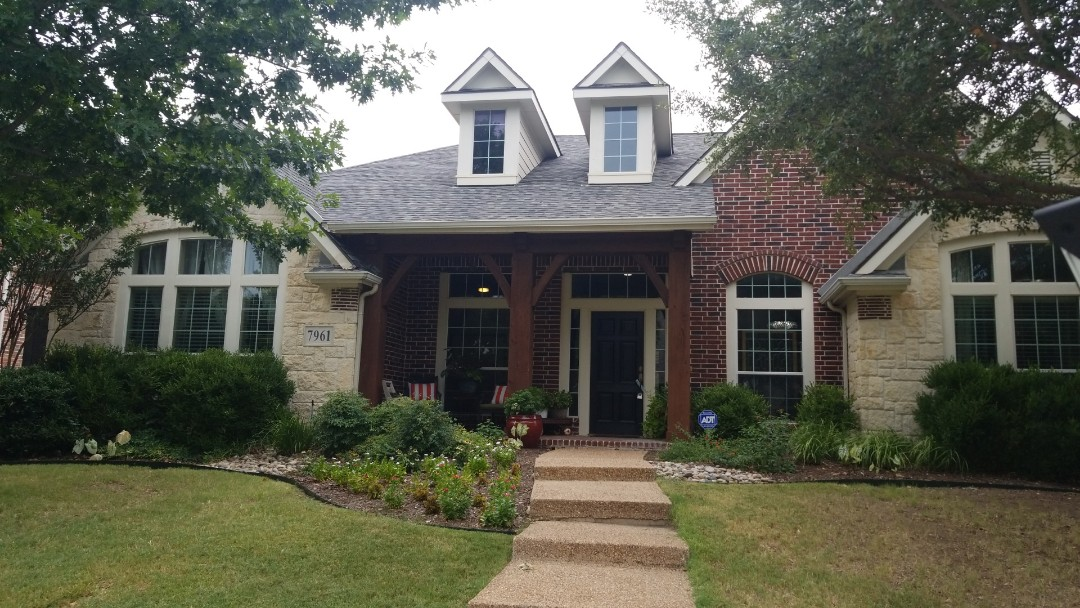 Frisco, TX - Complete roofing replacement- Installed heritage landmark 30 year shingle - thunderstorm grey