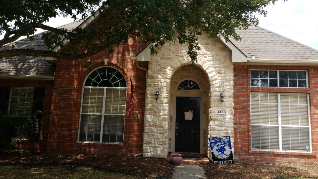 Plano, TX - Complete roof replacement - installed gaf natural shadow weathered wood shingle