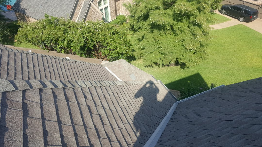 Allen, TX - Made a small repair on some missing shingles in Allen today. New view roofing does it all. Call me if you have hail damage. 4692075331