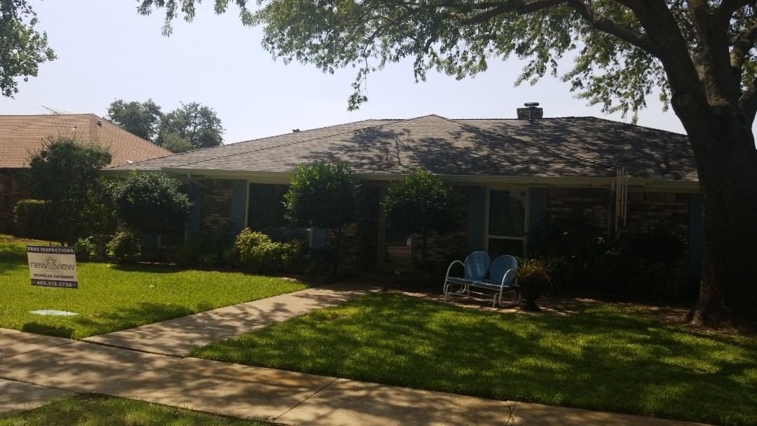 Carrollton, TX - Complete reaching replacement. Install GAF timberline HD weathered wood shingle