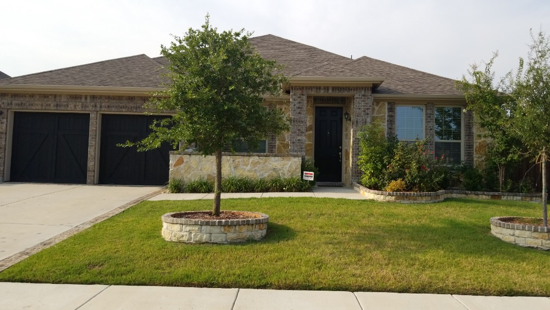 Carrollton, TX - Complete roofing replacement. Installed GAF timberline HD weathered wood shingle