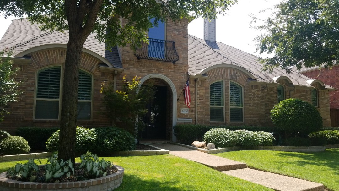 Plano, TX - Complete roofing replacement. Install GAF timberline HD weathered wood shingle 30 year warranty