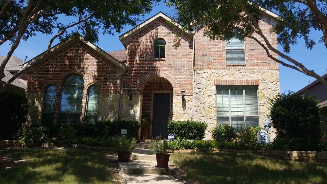 Frisco, TX - Complete roof replacement. Install GAF timberline HD driftwood 30 year shingle
