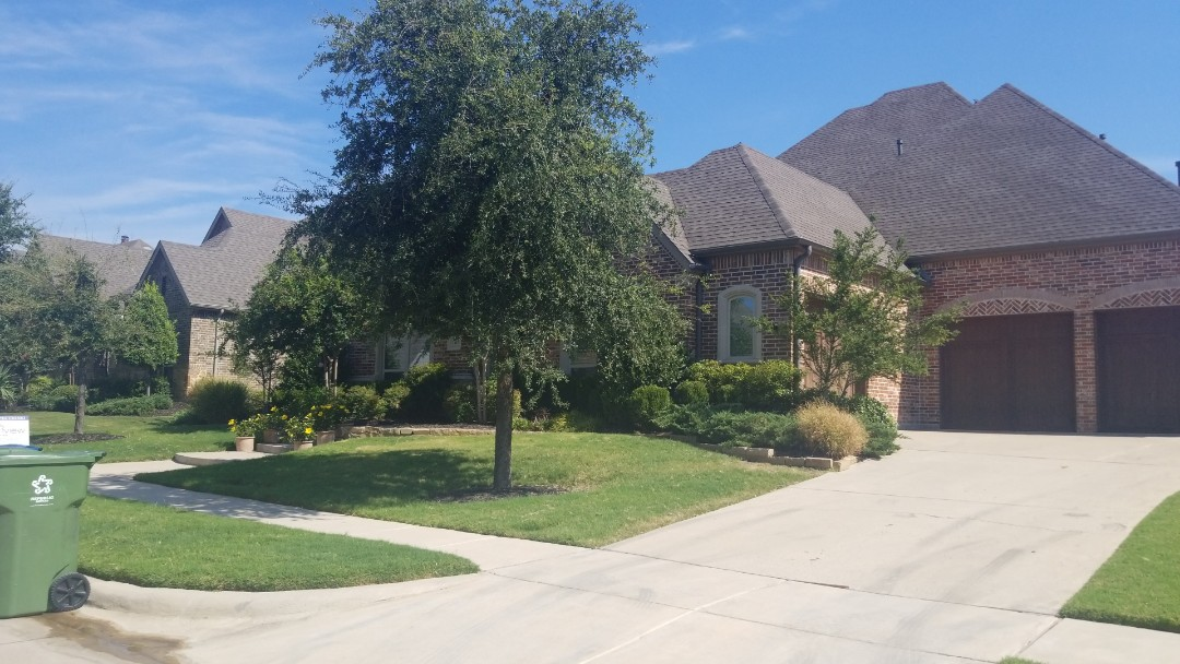 The Colony, TX - Complete roofing replacement. Installed timberline Ga FHD 30 year warranted shingle weathered wood