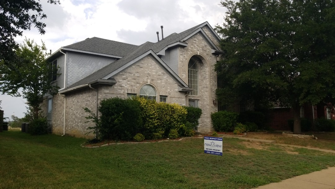 Frisco, TX - Complete roofing replacement. Install GAF timberline HD weathered Gray 30 year shingle