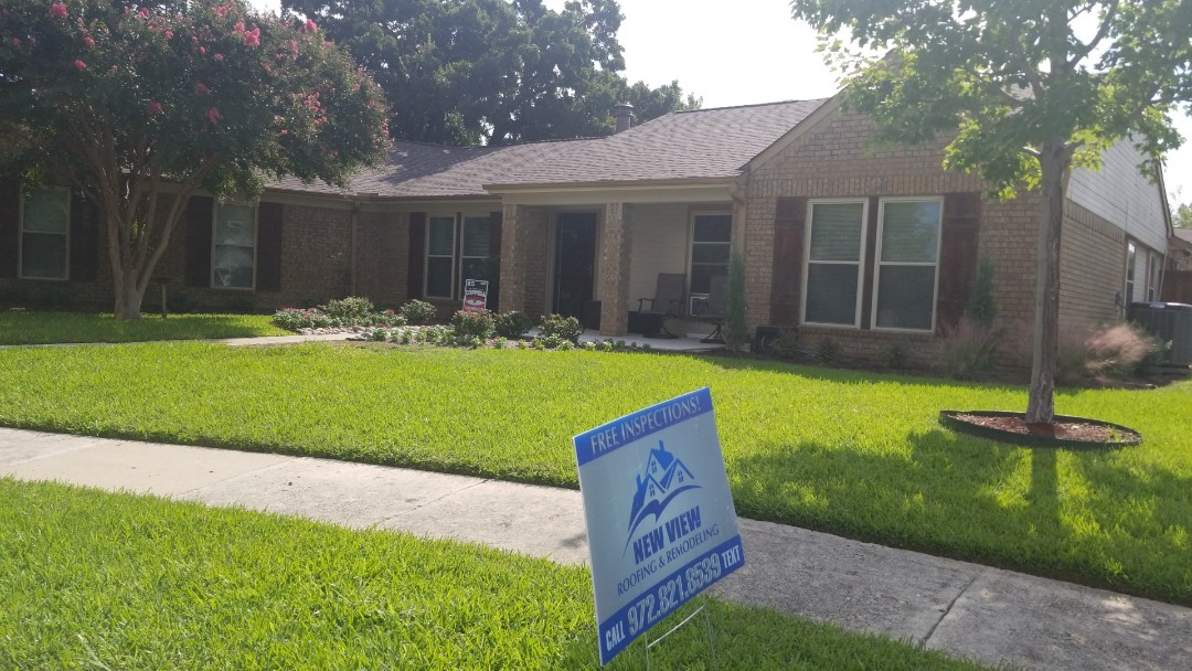 Coppell, TX - Complete roofing replacement. Installed GAF timberline HD weathered wood 30 year shingle