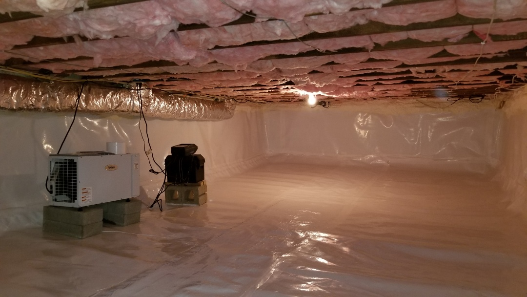 Tuckahoe, NY - Crawlspace Encapsulation, Aprilaire Dehumidifier, Spray Foam Rim Joist
