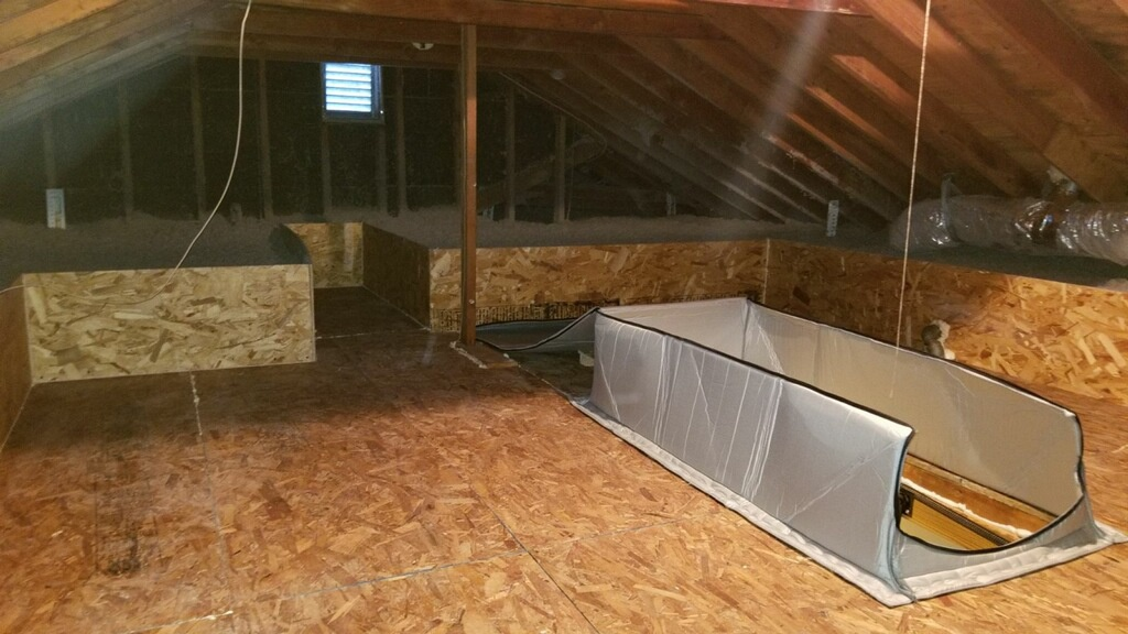 White Plains, NY - Attic insulation, attic makeoff, air sealing, frozen pipes, dense packing walls, attic staircase cover, can light covers, Lapolla Foam Lok-2000 4G spray foam, Applegate cellulose