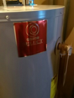 New state water heater.