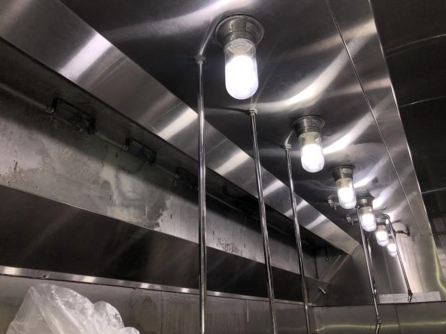 Providing kitchen exhaust cleaning in Southport, NC at Moore Street Oyster Bar.