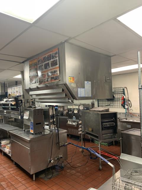 Restaurant hood cleaning in Huntersville, NC at Burger King.