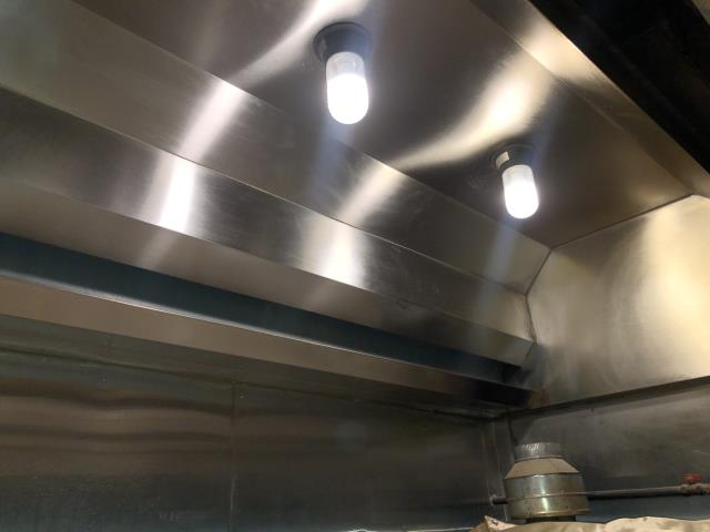 Professional commercial hood cleaning in Fayetteville, NC at Primo Pizza.