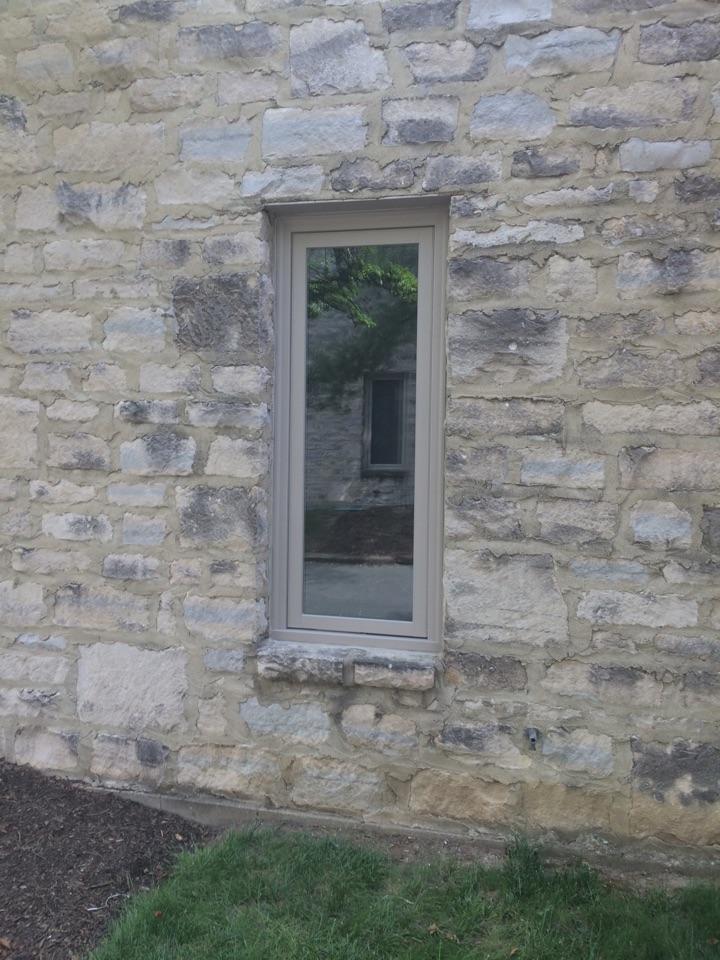 Dublin, OH - RbA full frame casement window installed in stone.