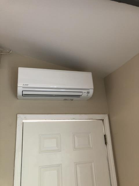 Gilroy, CA - Installing a Mitsubishi ductless mini-split system in Gilroy.