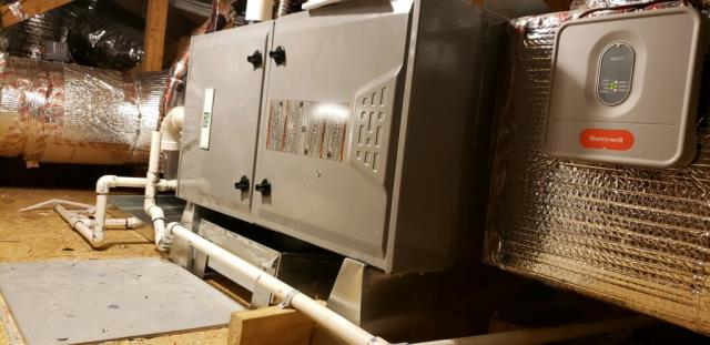 Sunnyvale, CA - Installing a new high efficient heating and ac system with dual zone controls for a residence in Sunnyvale.