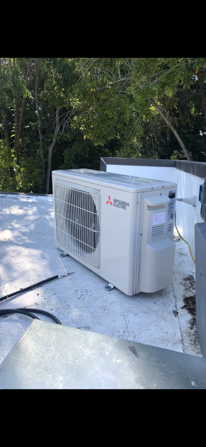 Palo Alto, CA - Installing two Mitsubishi ductless mini split heat pump, heating and ac systems on a guest house in Palo Alto.