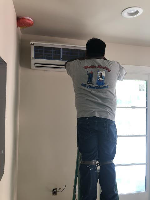 Palo Alto, CA - Installing a ductless mini split heat pump system in Palo Alto.