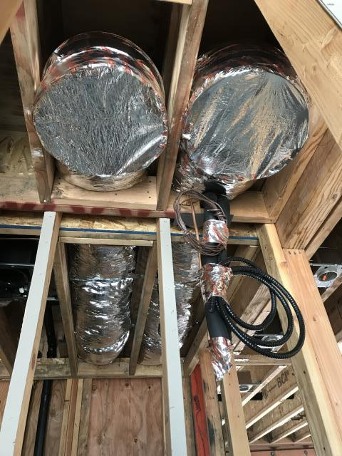Mountain View, CA - Installing a multi-zone, ducted mini-split, heat pump heating and ac system for a new construction residence in Mountain View.