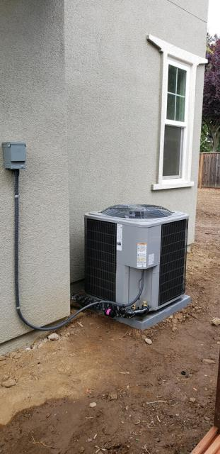 Morgan Hill, CA - Installing a heating and air conditioning system on a new home in Morgan Hill.