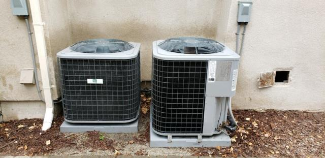 Burlingame, CA - Servicing two heating systems and installing two high efficient ac units on a single family home in Burlingame.