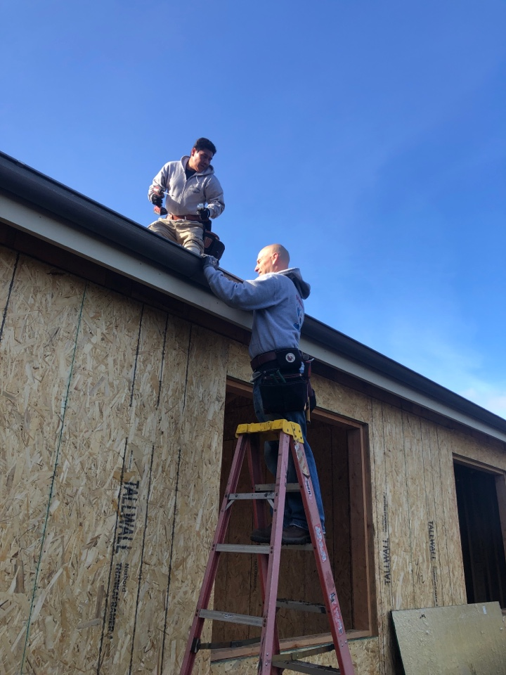 Los Gatos, CA - Installing galvanized gutters and two heating and air conditioning systems on a new construction home in Los Gatos