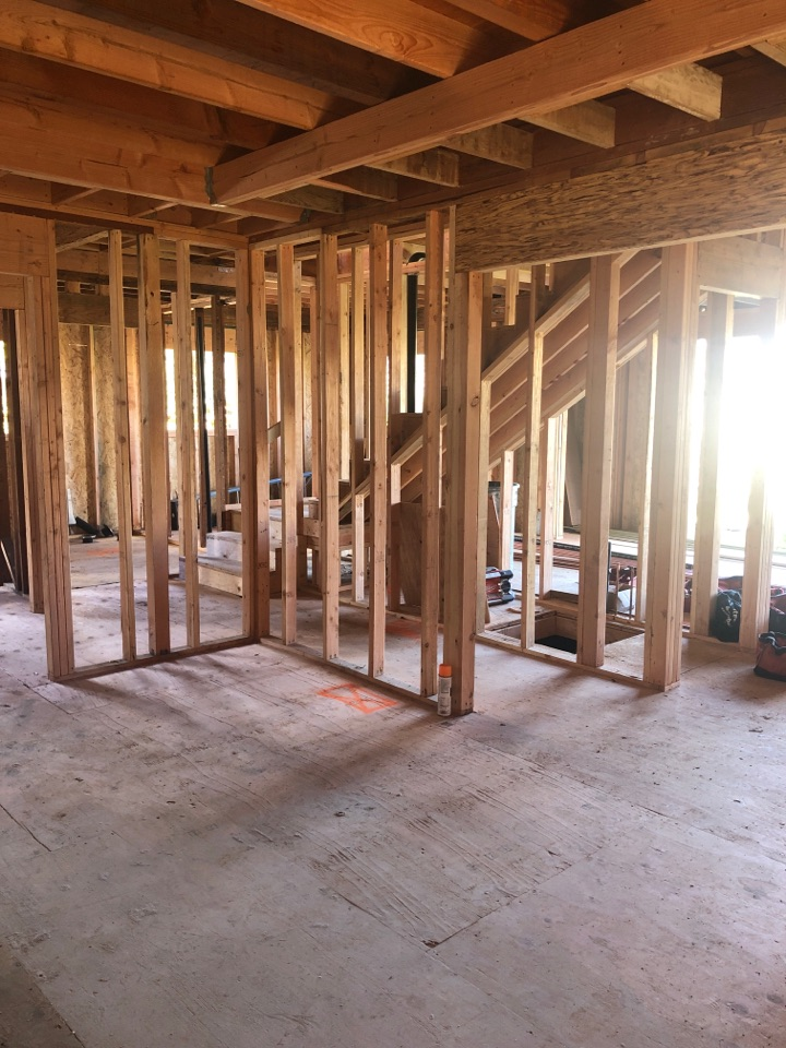 Monte Sereno, CA - Working on the installation of a Mitsubishi multi-zone, heat pump heating and air condition system on a new construction home in Monte Sereno.