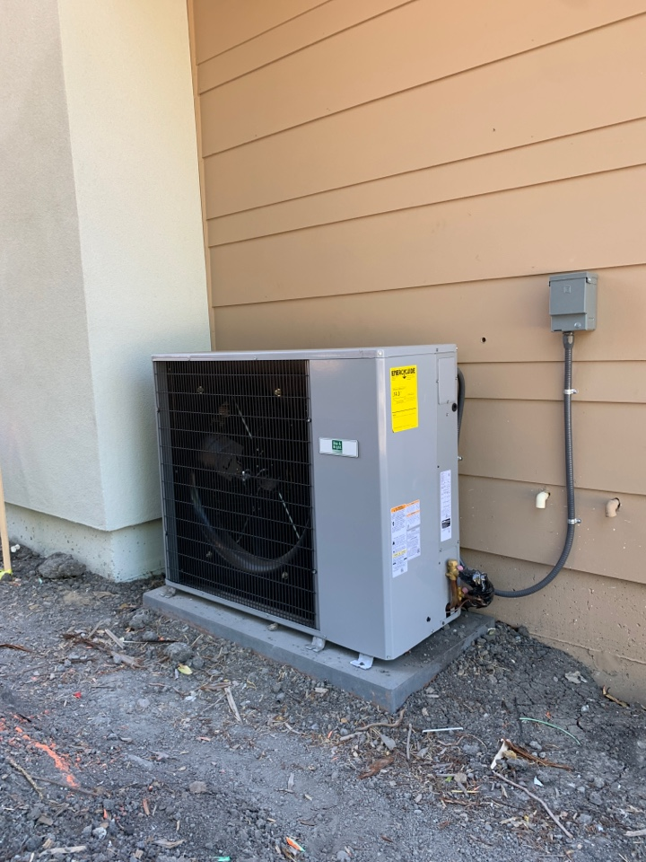 Installed a new central air conditioner in Mountain View